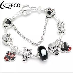 Jewelry - 18cm Brand New Mickey Mouse Charm Bracelet